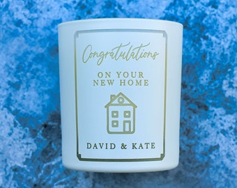 Personalised Happy New Home Coconut Scented Soy Candle, Housewarming Gift, First Home Gift, New Home Moving Out, Made in England