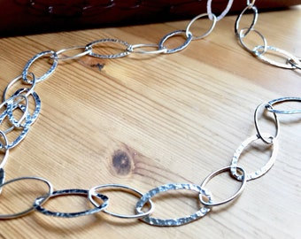 Long Oval Chain Necklace