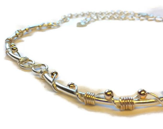 Sterling Silver 9ct Gold Necklace