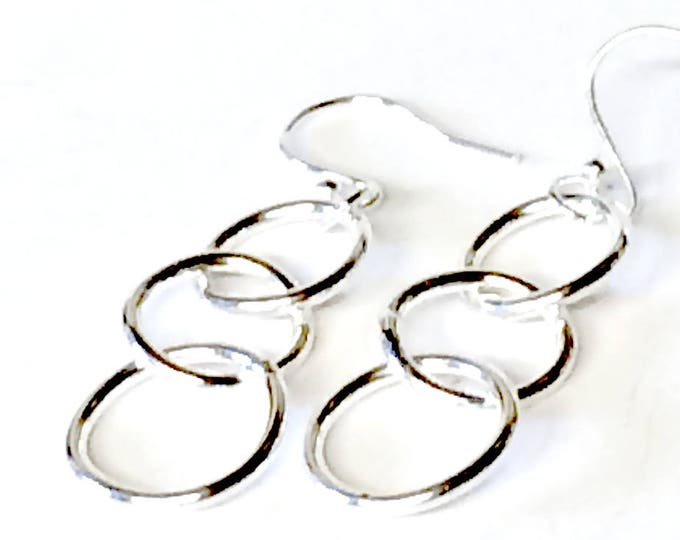 Linked Ring Drop Earrings