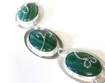 Malachite Stone Set Necklace