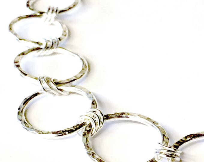 Hammered Texture Chain Necklace