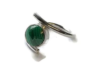 Malachite Adjustable Ring
