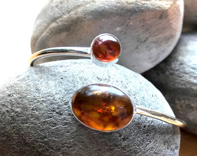 Double Amber Adjustable Bangle