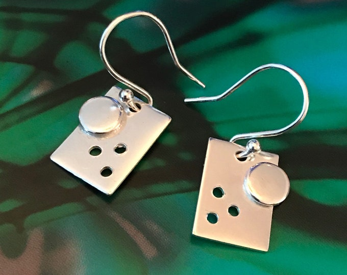 Abstract Rectangular Drop Earrings
