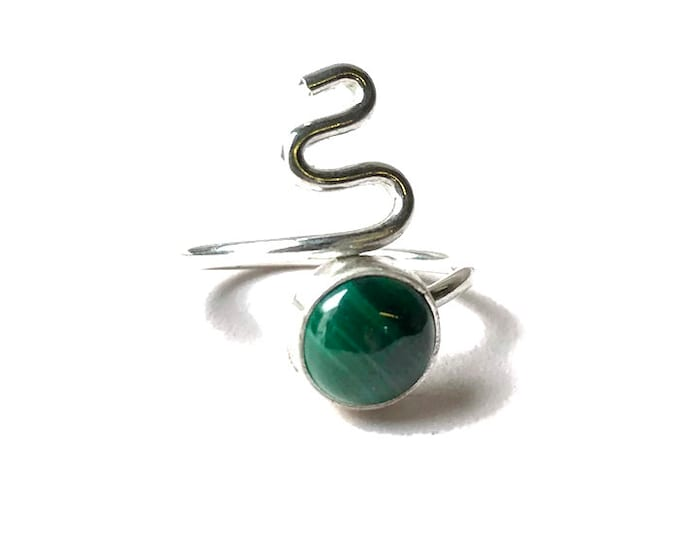 Malachite Adjustable Ring