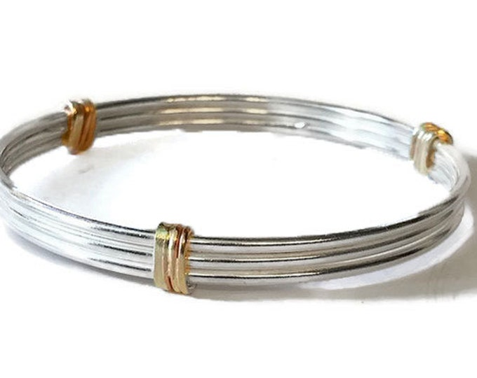 Triple Gold Wrapped Bangle