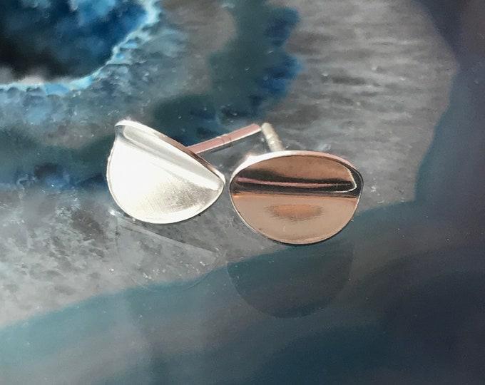 Small Formed Stud Earrings