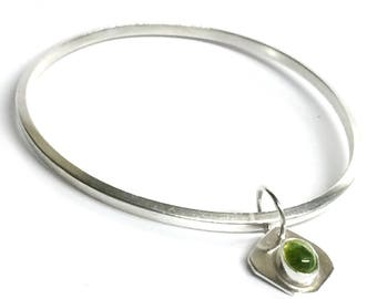 Tourmaline Drop Bangle