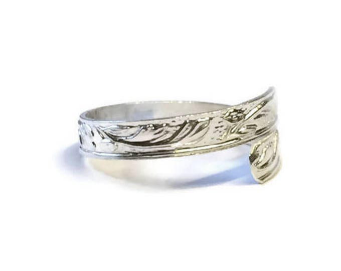 Leafy Texture Adjustable Ring