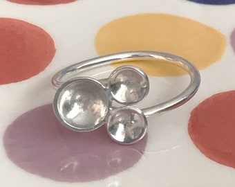 Contemporary 'Bubbles' Adjustable Ring