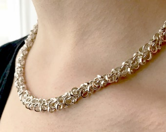 Contemporary Multi Chain Necklace