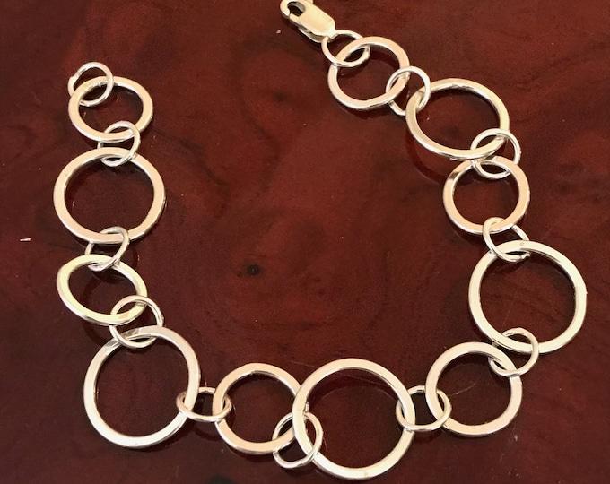 Flat Loop Ring Link Bracelet