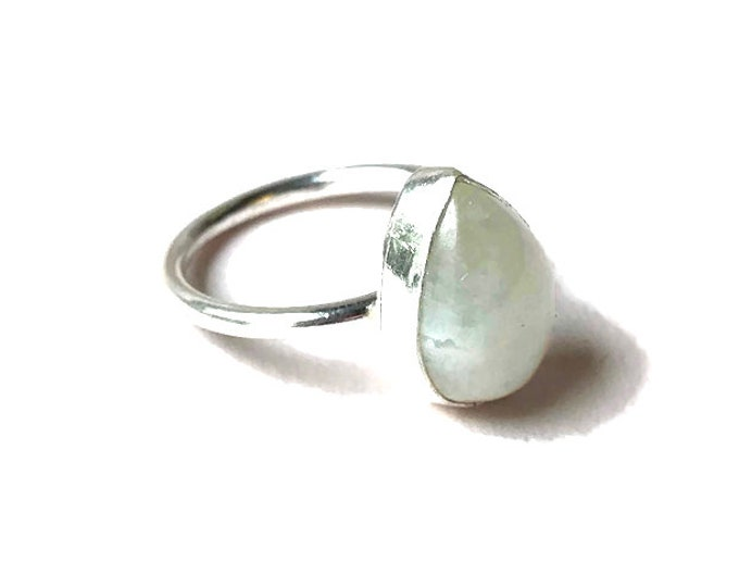 Rainbow Moonstone Ring (size N)