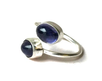 Iolite Adjustable Ring