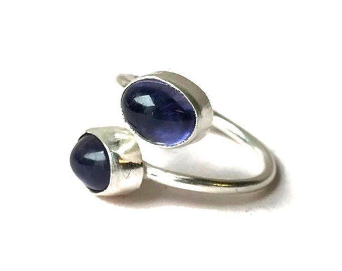 Iolite Adjustable Ring