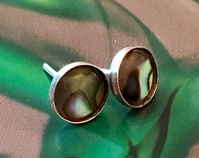 Abalone (Green) Stud Earrings