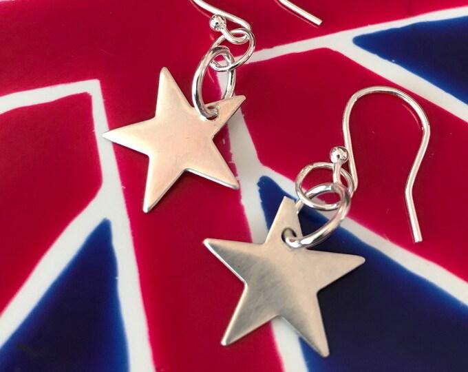 5 Point Star Drop Earrings