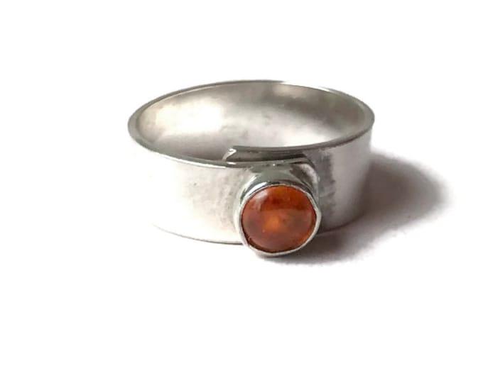 Amber Broad Adjustable Ring