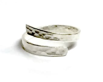 Hammered Finish Adjustable Ring
