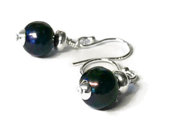 AAA Grade Navy/Black Freshwater Pearl Earrings
