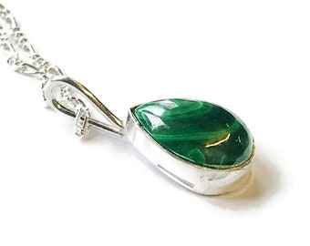 Malachite Teardrop Pendant