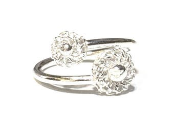 Gypsophila Design Adjustable Ring