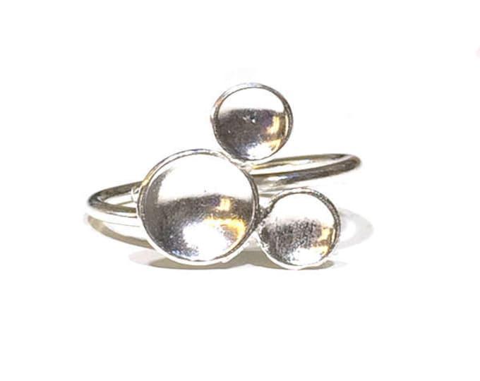 Contemporary 'Bubbles' Adjustable Ring