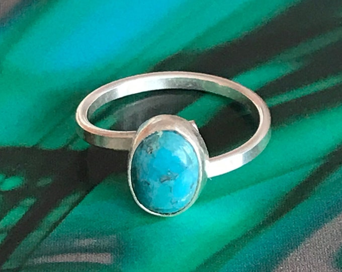 Oval Turquoise Adjustable Ring