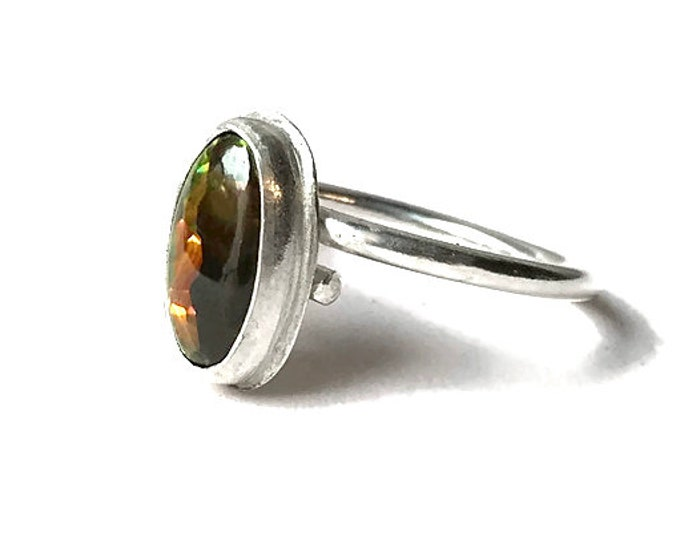 Australian Boulder Opal Adjustable Ring