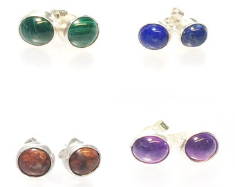 Choice of Stone Stud Earrings