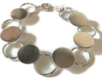 Button Disc Bracelet