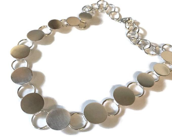 Contemporary 'Button' Disc Necklace
