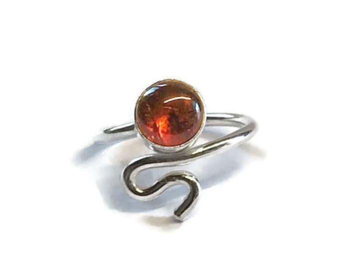 Amber Adjustable Ring