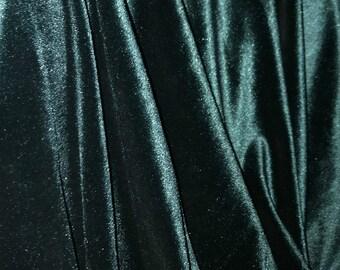 Velvet Emerald Curtain Green