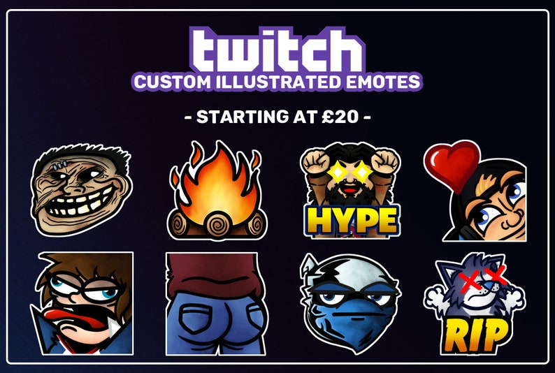 Custom designed emote(s) for Twitch and Discord
