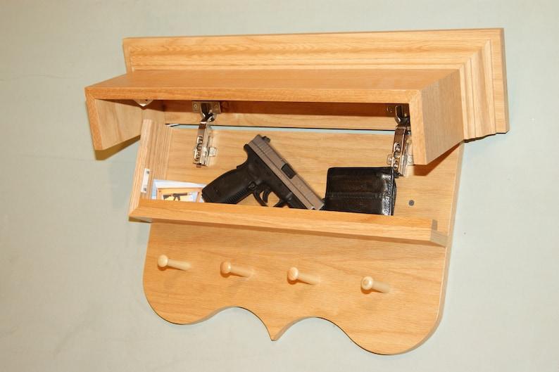 Nj Concealment Furniture Classic Coat Rack Gun Concealment Etsy