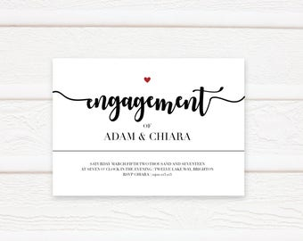Modern Engagement Invitation, Wedding, Engagement, Printable