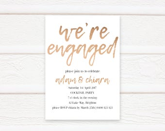 Engagement Invitation, Printable, Engagement Party, Invitation