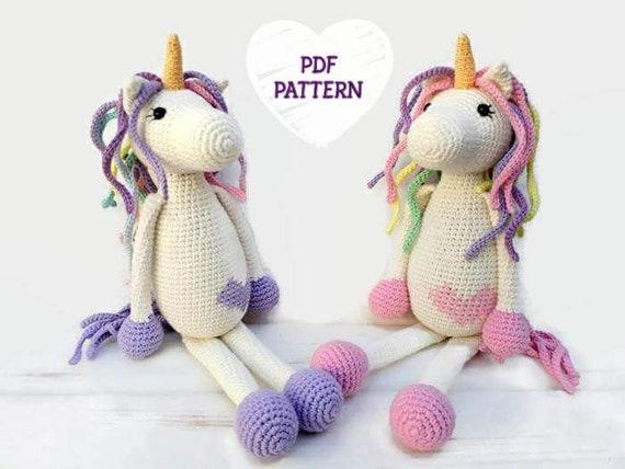 Crochet Unicorn Amigurumi Pattern For Beginners Pdf Photo Etsy