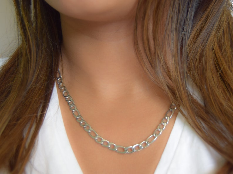 figaro chain necklace classy figaro necklace figaro chain statement piece link chain necklace for men and women Unisex FIGARO chain