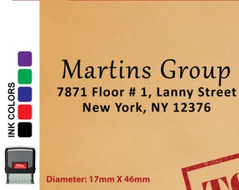 Address Stamp - Personalized Self-Inking Rubber Stamp KA25020