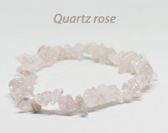 Bracelet rose Quartz Chips