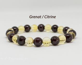 Bracelet Garnet / Citrine