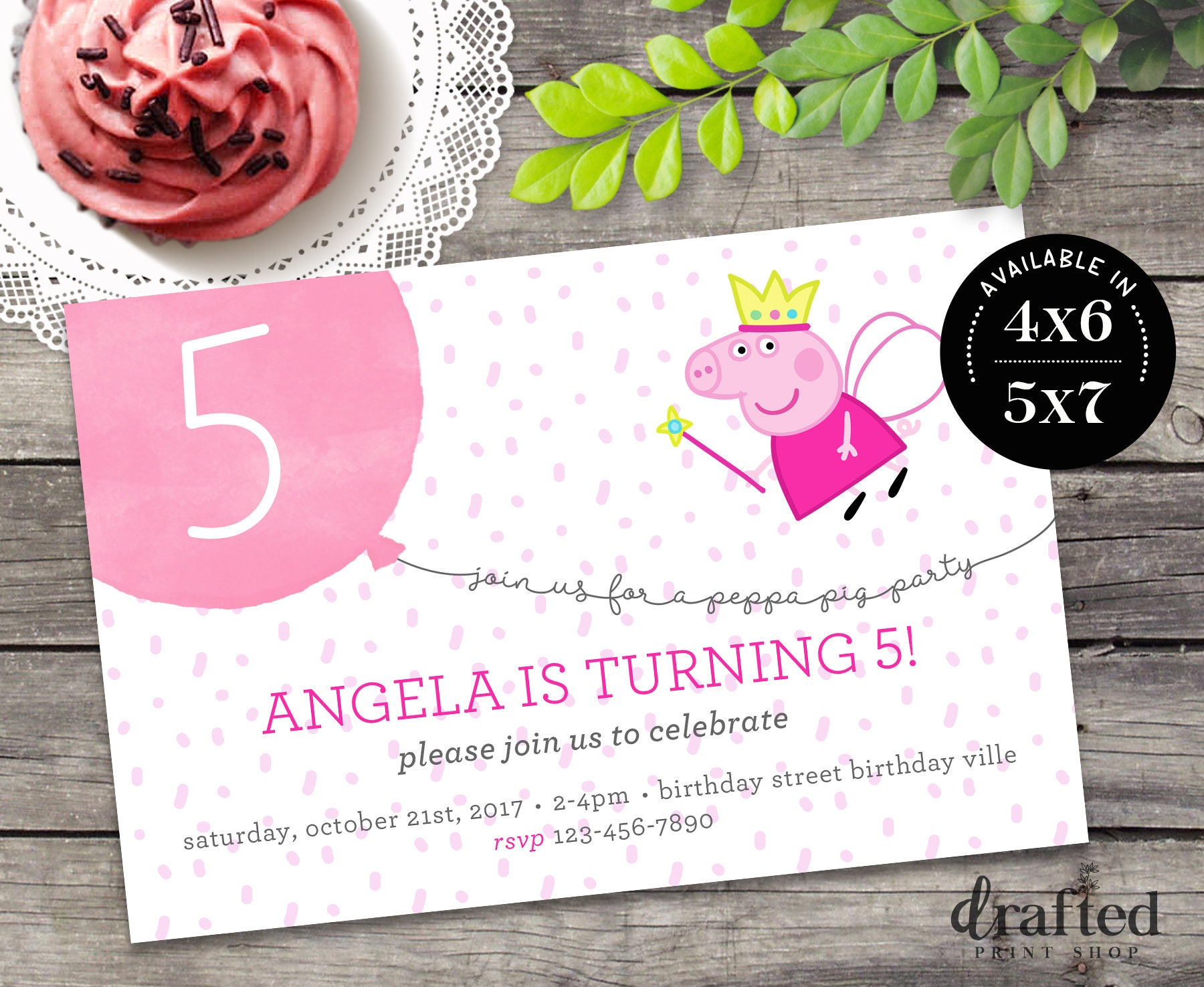 Peppa Pig Invitation Peppa Pig Birthday Peppa Pig Party | Etsy