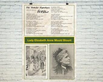 Lady Elizabeth Blount Poster - Flat Earth Poem and illustration A1 0r A2