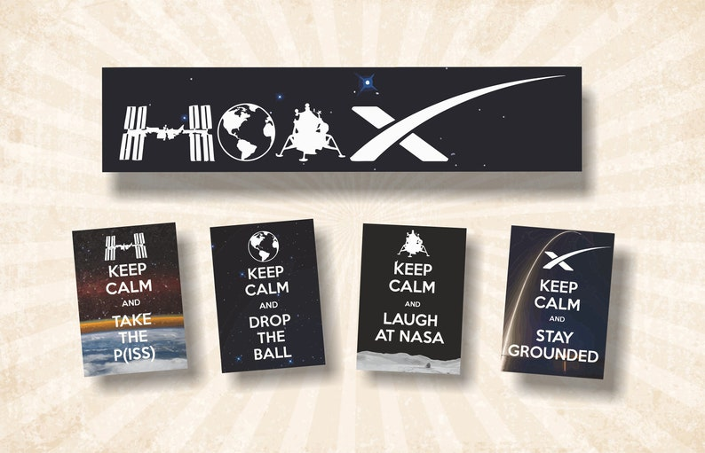 Flat Earth Sticker Collection 1  HOAX Edition image 0
