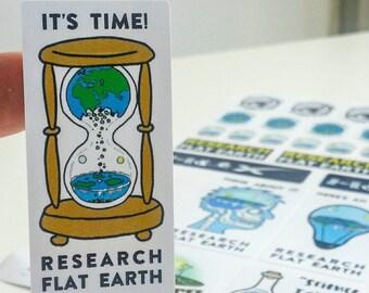 33 x Flat Earth Stickers