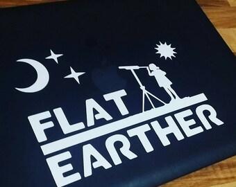 FLAT EARTHER decal - Original design, Flat Earth decal, suitable for car, laptop, wall, door.