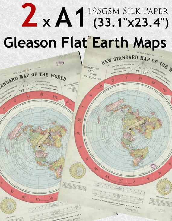 1892 Map Of The World.Gleason New Standard Map Of The World 1892 195gsm Silk Etsy